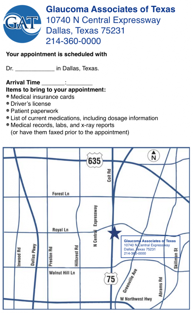 Dallas office Glaucoma Associates of Texas