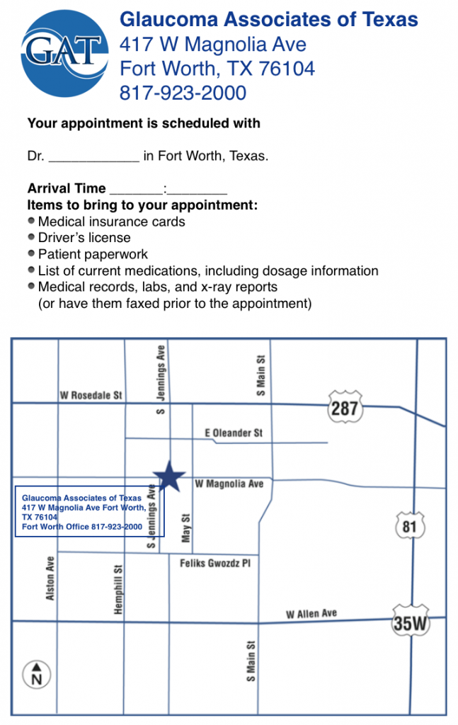 Fort Worth map to GAT