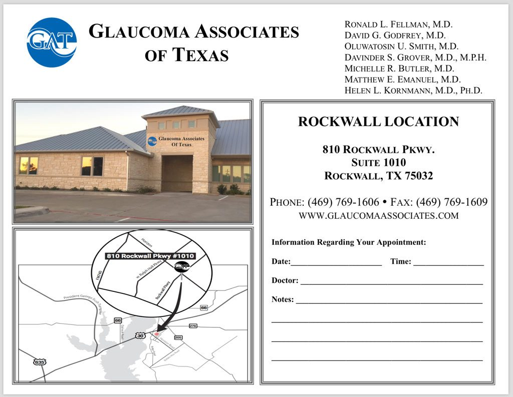 Glaucoma Associates of Texas – Rockwall Office